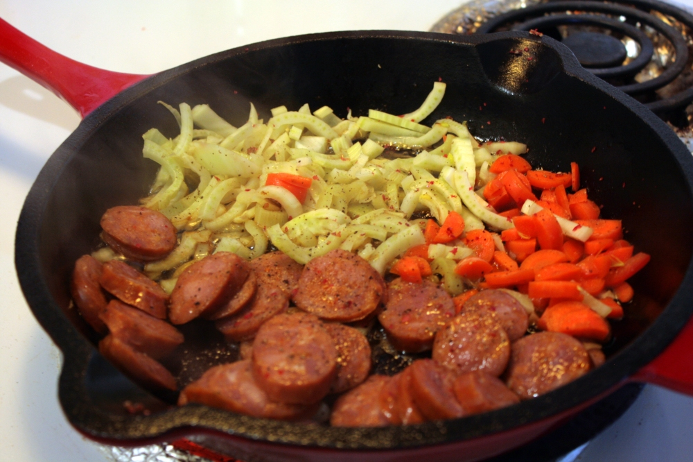 Vegetables in Cast Iron Skillet