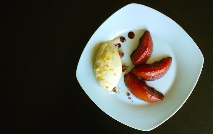 Ice Cream and Nectarines