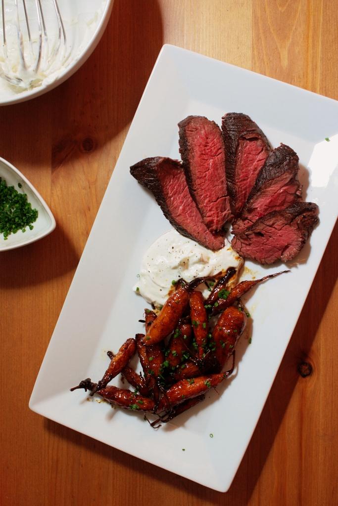 Steak Carrots Plate