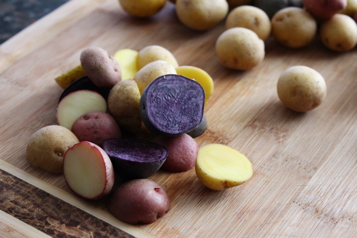 Cut Mini Potatoes